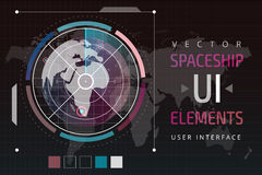 UI hud infographic interface web elements Royalty Free Stock Photo