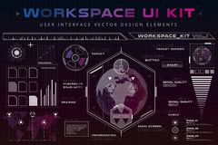 UI hud infographic interface web elements stock illustration