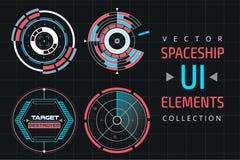 UI infographic interface web elements vector illustration