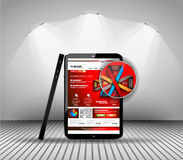 Элементы дизайна UI плоские для сети, Infographics, Стоковая Фотография RF