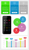 Элементы Ui, infographics и сети включая плоский d Стоковые Фотографии RF