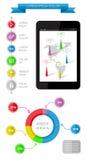 Ui, infographics en Webelementen met inbegrip van vlakke D Stock Foto