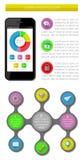 Ui, infographics en Webelementen met inbegrip van vlakke D Stock Foto's