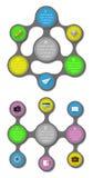 Ui, infographics i sieci elementy wliczając płaskiego d, Zdjęcie Royalty Free