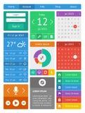 Ui, infographics- och rengöringsdukbeståndsdelar inklusive plant D Arkivbilder