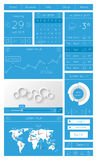 Ui, infographics and web elements. Including flat design. Vector illustration Royalty Free Stock Photos