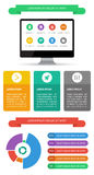 Ui, infographics and web elements including flat d Stock Photography