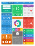 Ui, infographics and web elements including flat d Stock Images