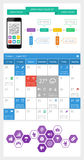 Ui, infographics and web elements including flat d. Esign. EPS10 vector illustration Stock Images