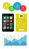 Ui, infographics and web elements including flat d Royalty Free Stock Photos