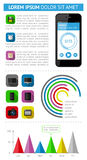 Ui, infographics and web elements including flat d. Esign. EPS10 vector illustration Royalty Free Stock Photography
