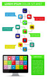 Ui, infographics and web elements including flat d. Esign. EPS10 vector illustration Stock Photo