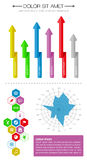 Ui, infographics and web elements including flat d. Esign. EPS10 vector illustration Royalty Free Stock Images