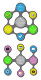 Ui, infographics and web elements including flat d. Esign. EPS10 vector illustration Royalty Free Stock Photo