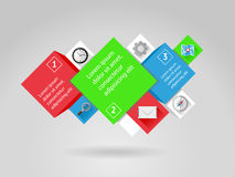 Ui, infographics and web elements including flat d. Ui, infographics and web elements. EPS10 vector illustration Royalty Free Stock Photo