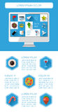 Ui, infographics and web elements. Including flat design. Vector illustration Royalty Free Stock Photography