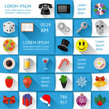 Ui, infographics and web elements. Including flat design. Vector illustration Stock Photography
