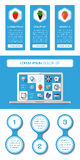 Ui, infographics and web elements. Including flat design. Vector illustration Royalty Free Stock Photo