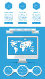 Ui, infographics and web elements. Including flat design. Vector illustration Stock Images