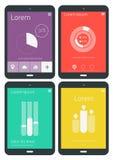UI-infographicsmalplaatjes Stock Afbeelding
