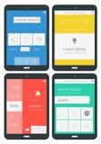 UI-infographicsmalplaatjes Royalty-vrije Stock Afbeelding