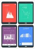 UI-infographicsmalplaatjes Stock Fotografie
