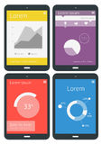 UI-infographicsmalplaatjes Royalty-vrije Stock Foto
