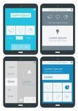 UI-infographicsmalplaatjes Stock Afbeeldingen