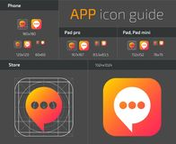 UI IOS button icons design guidelines for web and mobile app vector template. Illustration of application web button ui, ios icon Royalty Free Stock Image