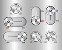 UI Kit Elements, sistema de la palanca del resbalador stock de ilustración