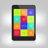 Ui kleurrijk ontwerp voor mobiele apparaten Stock Foto's