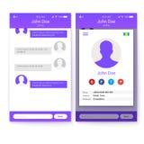 UI-Konzept beweglicher APP, GUI-Design für entgegenkommende Geschäftswebsite oder Anwendungen Seite des Profils und Schirm von Lizenzfreie Stockfotografie