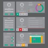 UI- och UX vektorsats Arkivbilder