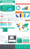 UI & pacchetto degli elementi di web Fotografia Stock Libera da Diritti