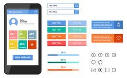 UI plat mobile simple Photos libres de droits