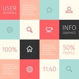 Ui pour le mobile ou le web design Photo libre de droits