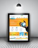 UI sänker designbeståndsdelar för plana designbeståndsdelar för WUI för rengöringsduken, Infographics Arkivbilder
