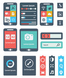 UI is a set of beautiful components featuring the flat design trend EPS10. Stock Photography