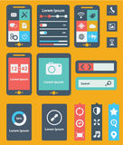 UI is a set of beautiful components featuring the flat design trend EPS10. Stock Images