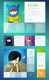 UI is a set of components featuring. The flat design trend Royalty Free Stock Photo