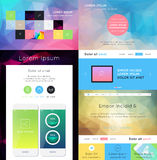 UI is a set of components featuring. The flat design trend Royalty Free Stock Images