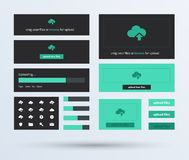 UI set the flat design trend. Royalty Free Stock Image
