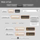 Ui Set for you web site, grey, orange Royalty Free Stock Photography