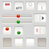 UI sliders and buttons Royalty Free Stock Images