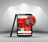 UI sänker designbeståndsdelar för rengöringsduken, Infographics, Royaltyfri Fotografi