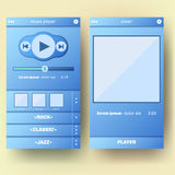 UI template for mobile phone. Royalty Free Stock Photos