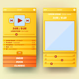 UI template for mobile phone. Royalty Free Stock Images