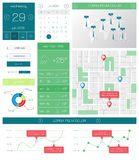 Ui, templates and elements of infographics Stock Images