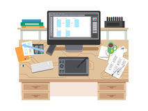UI and UX app design workspace. Royalty Free Stock Photography