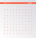 001 UI UX Arrow Icons. UI icons of arrows and button control elements. UX pictograms for user interface design, web apps and business presentation. 32px simple Royalty Free Stock Image